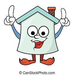 Cartoon Home Character Dancing