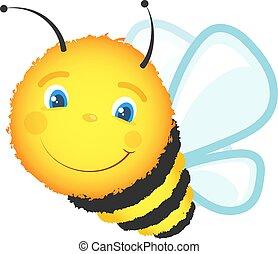 Cheerful cute bee