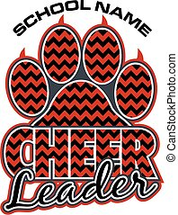 cheerleader paw print