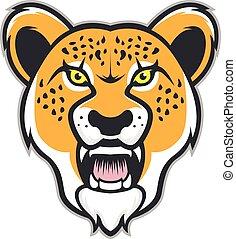 Cheetah head mascot
