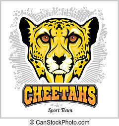 Cheetahs Head - Mascot Emblem for sport team. Vector illustration for t-shirt and badges