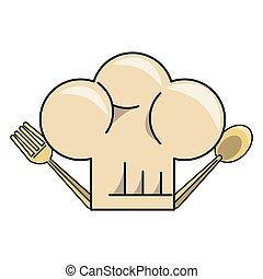chef hat cartoon