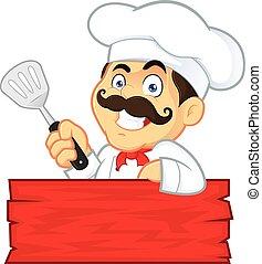 Chef Holding Spatula