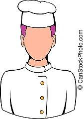 Chef icon cartoon