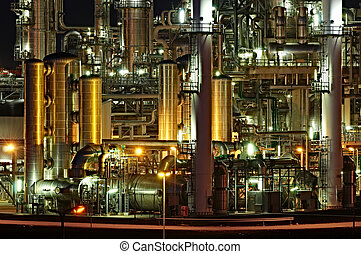 High Dynamic Range impression of a chemical installation in the Port of Rotterdam