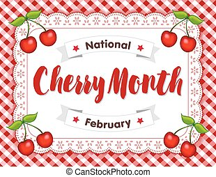 Cherry Month, Lace Doily Place Mat