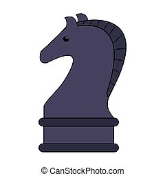 chess game horse competition cartoon
