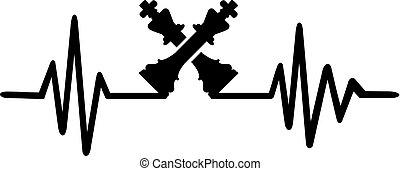 Chess heartbeat line german