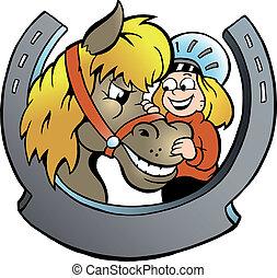 Child Rider and Horse