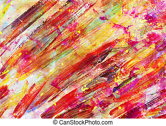 children drawing - abstract art painting