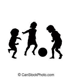 Children soccer vector