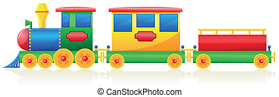 children train vector illustration isolated on white background