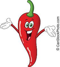 Red hot chili pepper cartoon