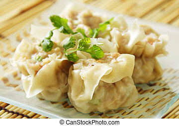 Chinese steamed shumay dimsum dish