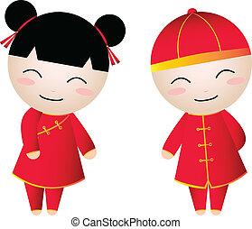 Chinese Girl-Boy Greetings