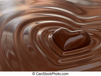 Very high resolution rendering of a chocolate heart