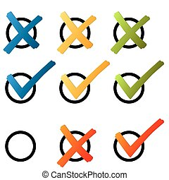 Choice - cross and hook colorful