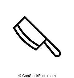 chop thin line icon