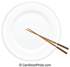 chopsticks and plate 2