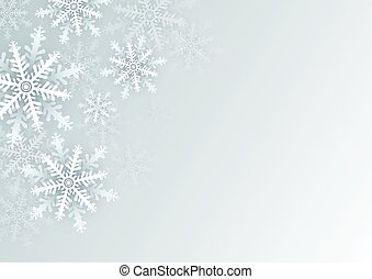 Christmas background design of white snowflake with copy space