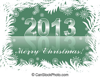 christmas background with 2013
