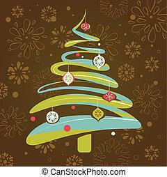 Christmas background with xmas tree