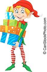 Christmas Elf, illustration