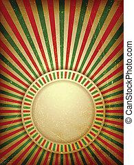 Christmas grunge light rays background