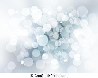 Christmas lights and stars