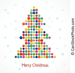 Christmas pixel tree