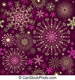 Christmas purple seamless pattern