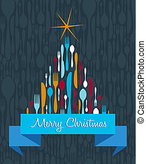 Christmas Tree Cutlery background