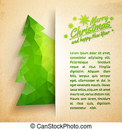Christmas tree on a paper background
