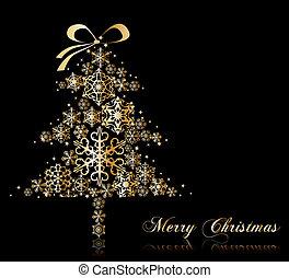 Christmas Tree with stars. Vector