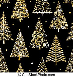 Christmas trees, seamless pattern for your design