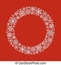 Christmas vintage background in red