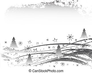 vector illustration of an abstract winter landscape