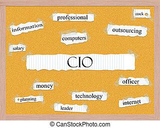 CIO Corkboard Word Concept