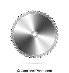 Vector illustration of a circular saw blade