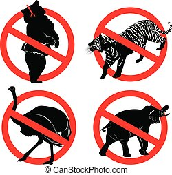 """Circus sign. prohibition signs """"stop circus"""""""