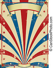 A vintage circus background with a texture for a poster.