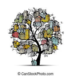 City tree, sketch for your design