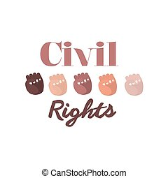 civil rights design, vector illustration eps10 graphic
