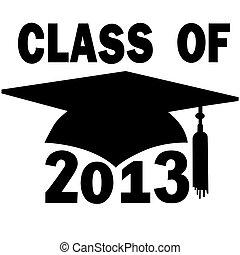 A mortar board Graduation Cap for a College or High School graduating Class of 2013.