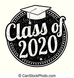 Class of 2020 grunge rubber stamp