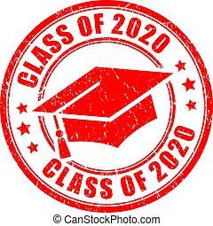 Class of 2020 vector graduation stamp