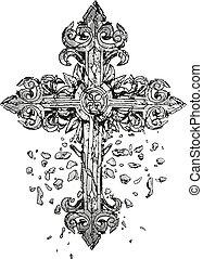 classic cross illustration
