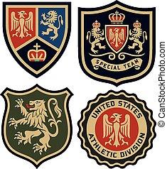 classic royal emblem badge shield