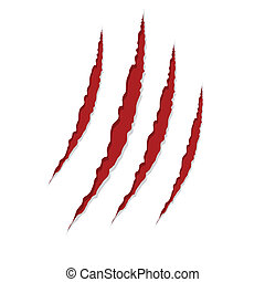 claw scratches isolated on white background, vector
