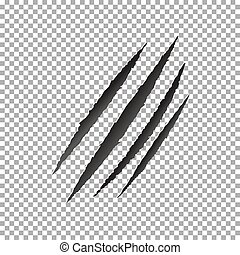Claws scratch vector, animal claw scratch